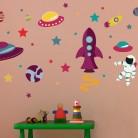 """Vinilo decorativo infantil """"Planetario"""""""