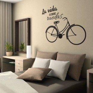 """Vinilo decorativo """"La vida sobre ruedas"""""""