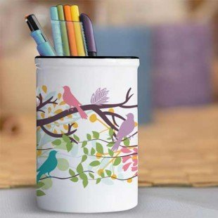 """Bote de lápices """"Pájaros de colores"""""""