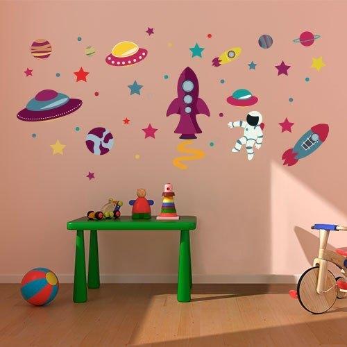 Vinilo tela infantil planetario imaginario - Vinilos infantiles tela ...