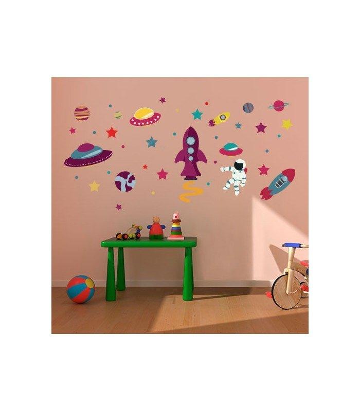 Vinilo tela infantil planetario imaginario - Vinilos de tela ...