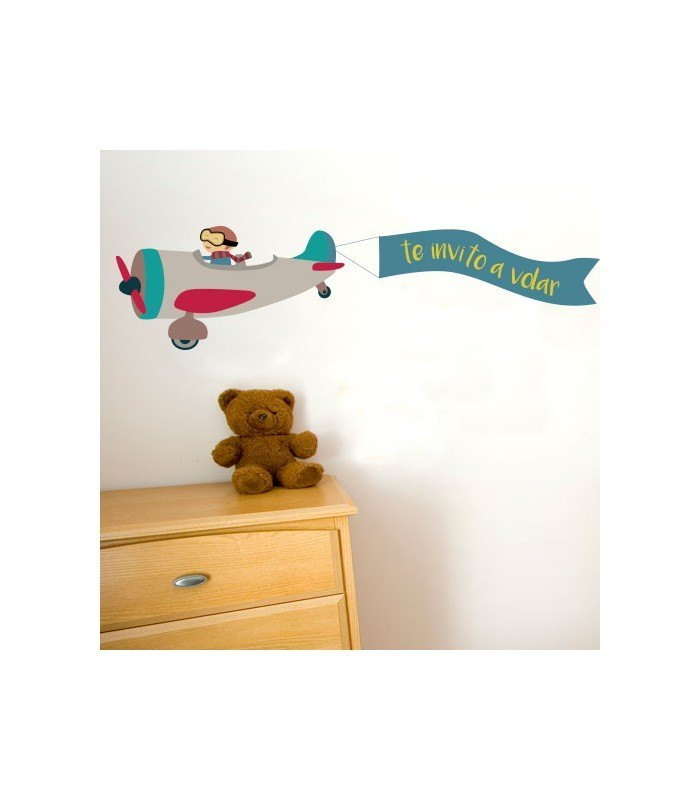 Vinilo de tela infantil te invito a volar - Vinilos de tela ...