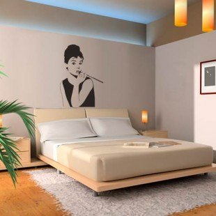 "Vinilo decorativo ""Audrey Hepburn"""