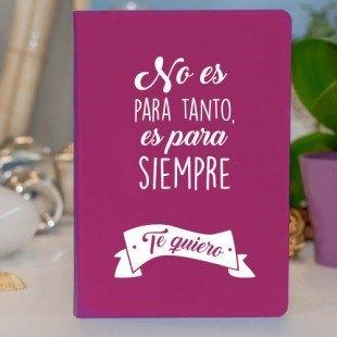 """Libreta original (prodiskine) """"Es para siempre"""""""