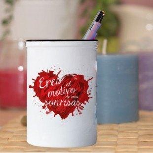 "Bote de lápices ""Motivo de mis sonrisas"""