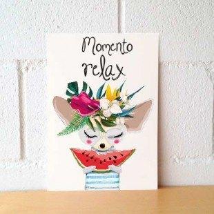 "Lámina decorativa ""Momento relax"""