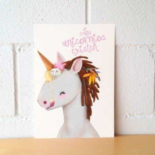 "Lámina decorativa ""Unicornio"""