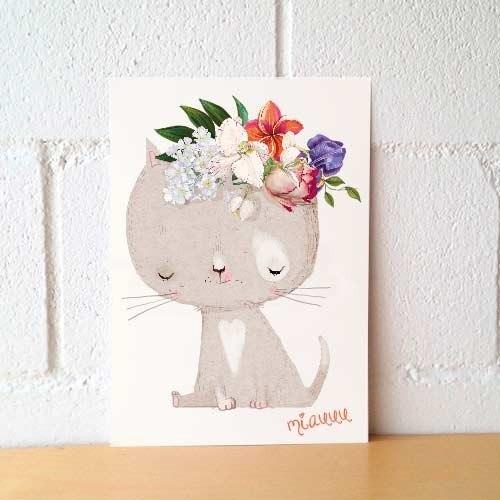 """Lámina decorativa """"Miau"""""""