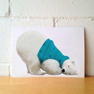 """Lámina divertida """"Oso polar"""""""