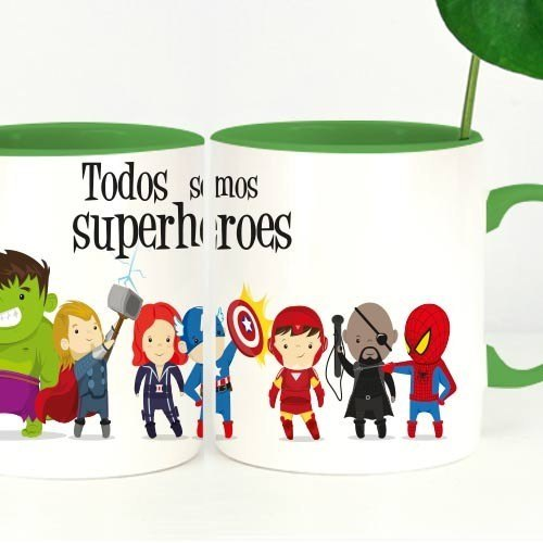 "Taza chula ""Superhéroes"""