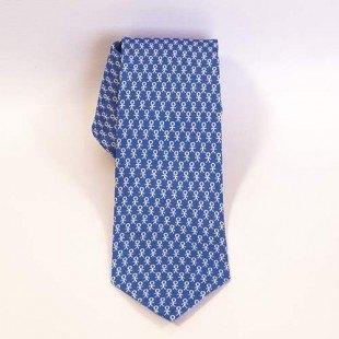 Corbata solidaria Prodis Azul y blanco