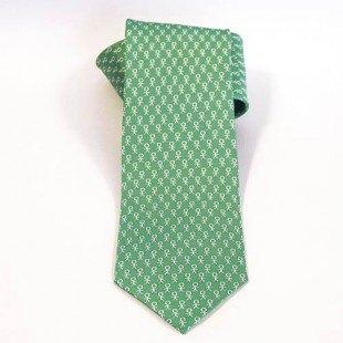 Corbata solidaria Prodis Verde y blanco