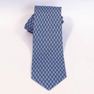 Corbata Prodis Azul y mostaza