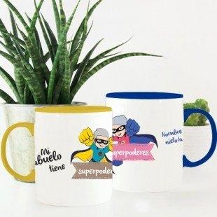 """Pack ahorro tazas personalizadas """"Súperabuelos"""""""