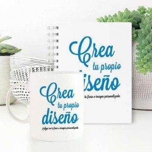 Pack taza + cuaderno personalizados