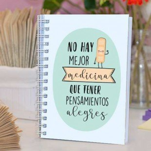 "Cuaderno de tapa dura ""Medicina alegre"""