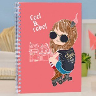 "Cuaderno chulo ""Cool & Rebel"""