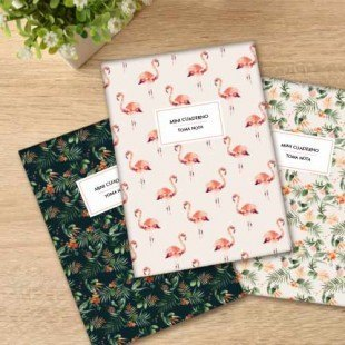 "Pack de 3 libretas ""Tropical"""