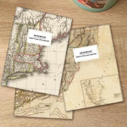 """Pack de 3 libretas """"Mapas"""""""