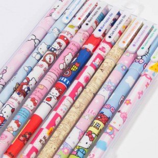 10 Bolis colores Hello Kitty