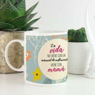 """Taza molona """"Mamá - manual de instrucciones"""""""