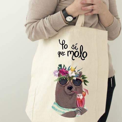 """Bolsa playera """"Yo molo"""""""