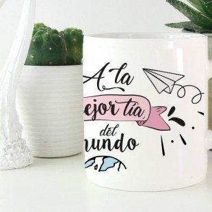 """Taza molona """"A la tía mejor del mundo"""""""