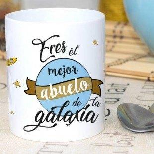 """Taza chula """"Mejor abuelo de la galaxia"""""""