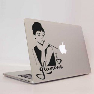"Vinilo decorativo para portátil ""Audrey Hepburn"""""