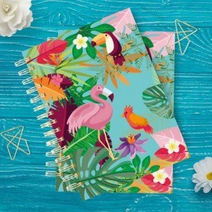 """Cuadernos de bolsillo """"Tropical"""""""