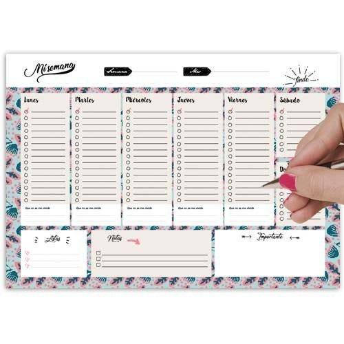 """Planificador semanal """"Mi semana"""""""