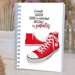 """Cuaderno artesanal """"Zapatos"""""""