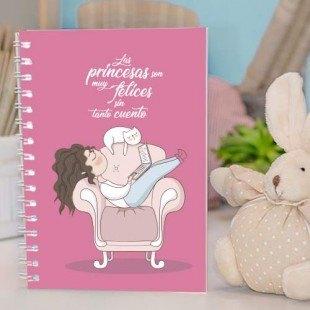 """Cuaderno de tapa dura """"Princesas sin cuento"""""""