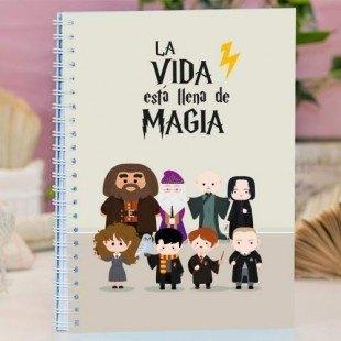 """Cuaderno tapa dura """"La vida es magia"""""""
