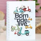 "Cuaderno tapa dura ""Born to ride"""