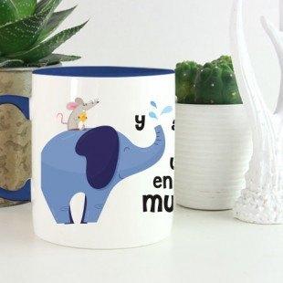 """Taza original """"Elefante amigo"""""""