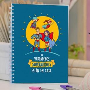 """Cuaderno molón """"Verdaderos superhéroes"""""""