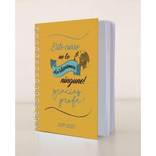 """Cuaderno """"Este curso no lo olvidaremos ninguno gracias profe"""""""