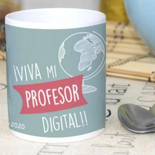"""Taza """"viva mi profesor digital"""""""
