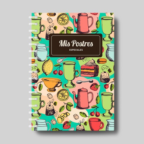 """Cuaderno molón  """"postres especiales"""""""