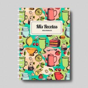 """Cuaderno molón  """"Recetas"""""""