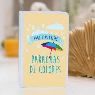 """Libreta personalizada """"Para días grises paraguas de colores"""""""