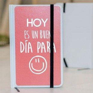 """Libreta personalizada molona """"Hoy es un buen día para sonreir"""""""