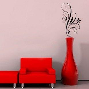 "Vinilo decorativo ""Motivo floral"""
