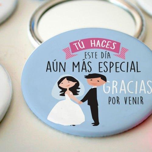 Espejo chapa para bodas personalizado con bonito mensaje for Espejos originales para salon