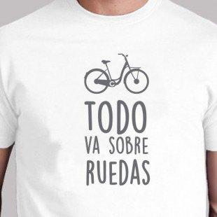 "Camiseta ""Va sobre ruedas"""