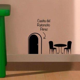 """Vinilo infantil """"Terraza de Ratoncito Pérez"""""""