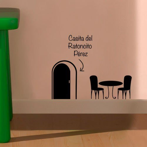 Vinilo decorativo infantil para pared con casita ratoncito for Vinilos decorativos casa