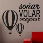 """Vinlo decorativo """"Soñar volar  imaginar """""""