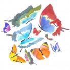 """Vinilo decorativo """"Mariposas de colores"""""""